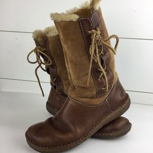 Born Leather Upper Shearling lined Boots